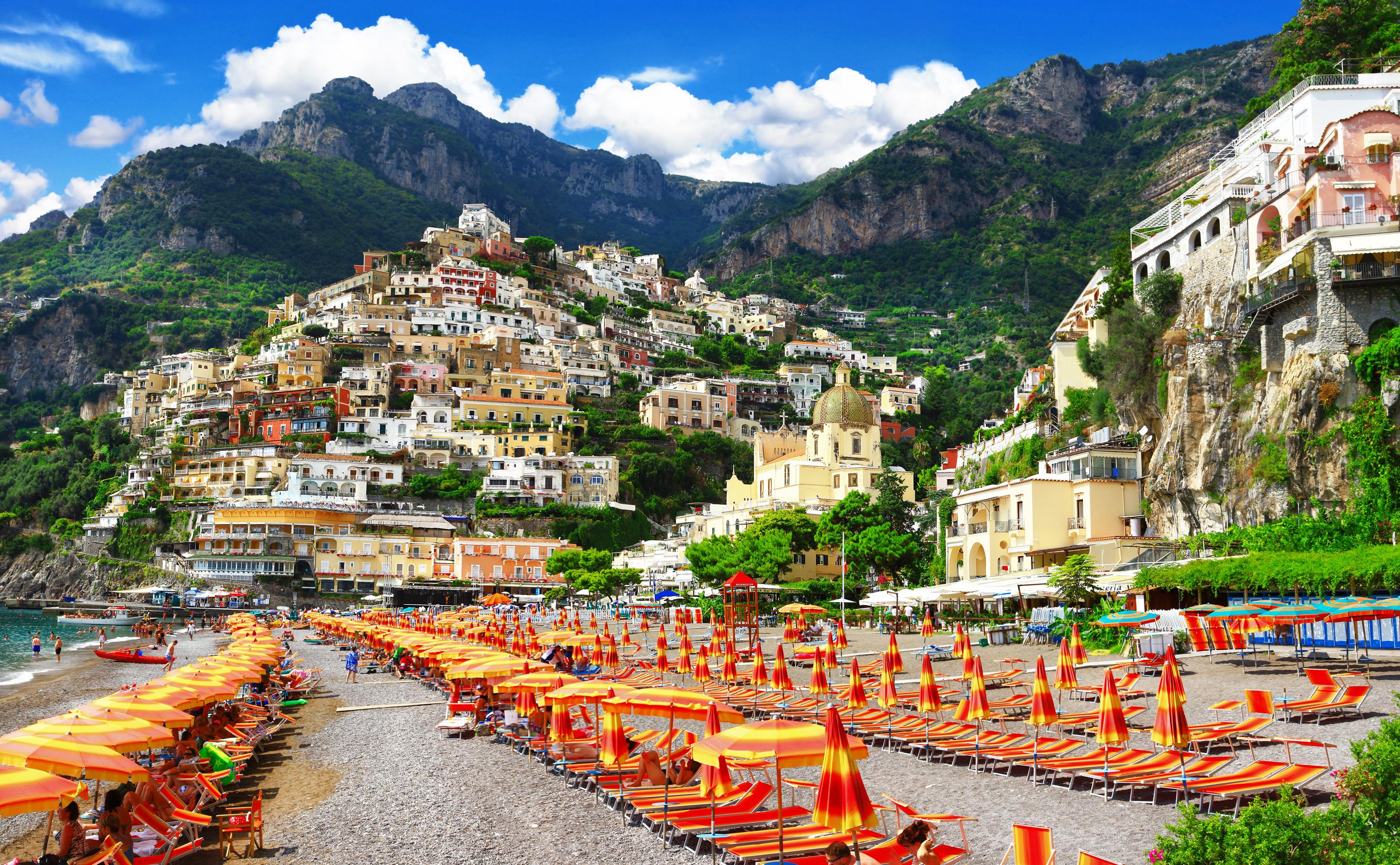 Spiaggia di Positano in Costiera Amalfitana