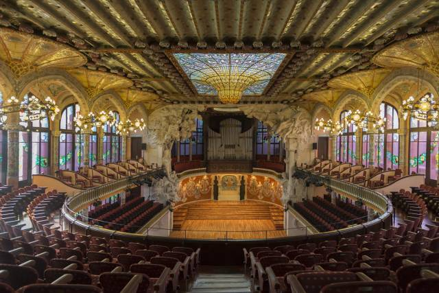 Il Palazzo della Musica Catalana a Barcellona