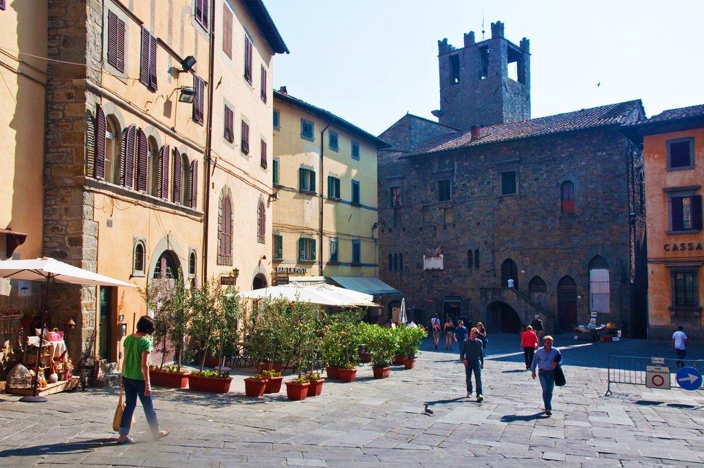 Piazza Signorelli a Cortona
