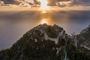 La fortezza di Angelokastro a Corfù