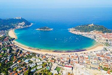La Concha, in lingua basca contxa, è il simbolo di San Sebastián