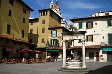 Piazza della Sala a Pistoia