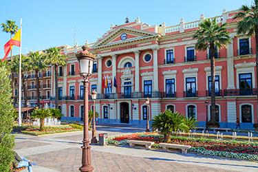 La Glorieta de España e l'Ayuntamiento di Murcia