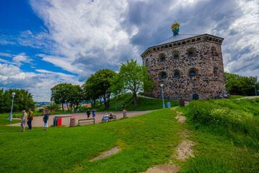 La fortezza Skansen Kronan a Göteborg