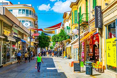Ledra street nel centro storico di Nicosia