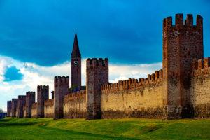 Vista delle mura di Montagnana