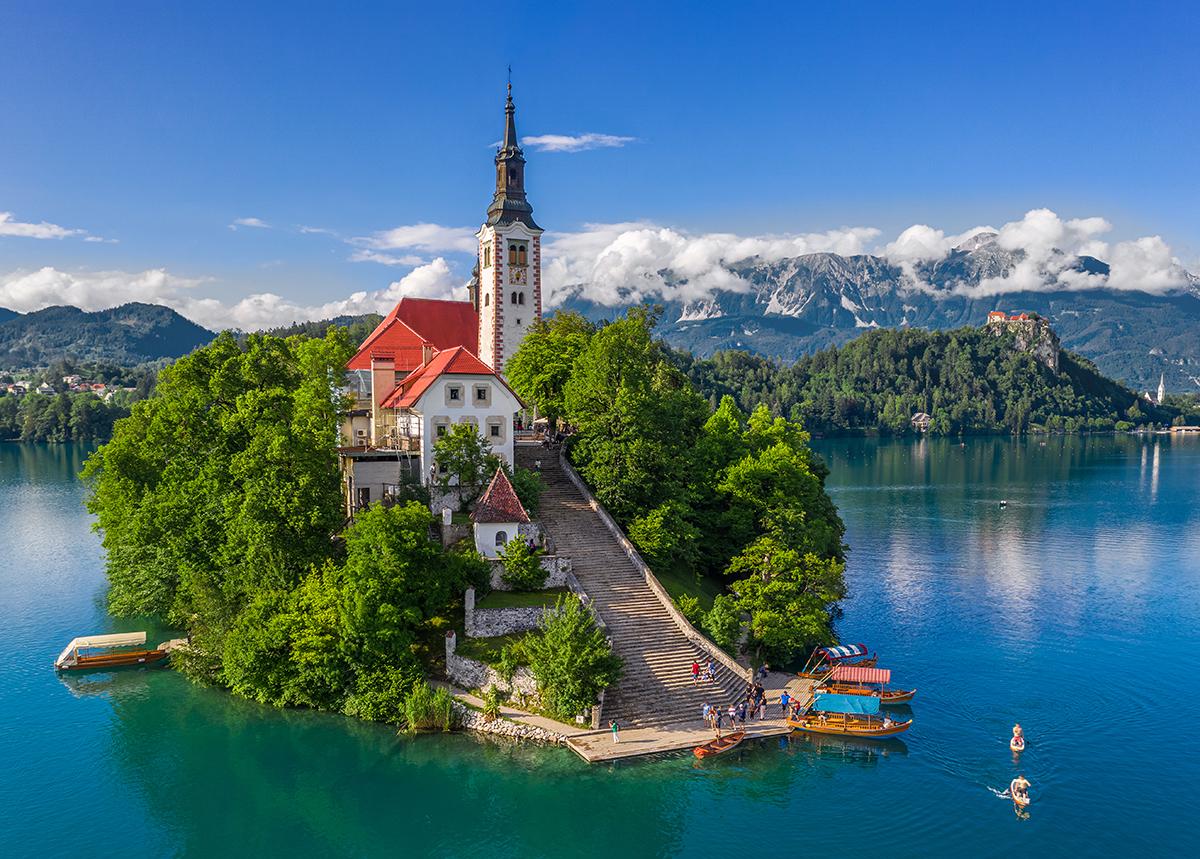 La chiesa dell'Assunzione a Bled
