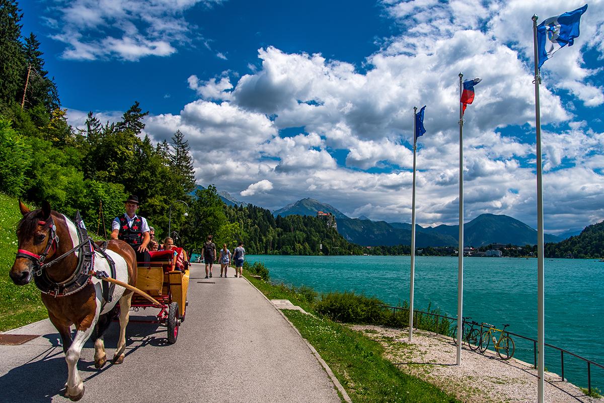 Il lago di Bled in carrozza