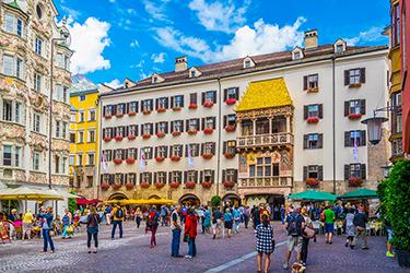 Il centro storico di Innsbruck