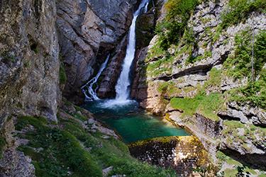 Le cascate di Savica e il lago di Bohinj