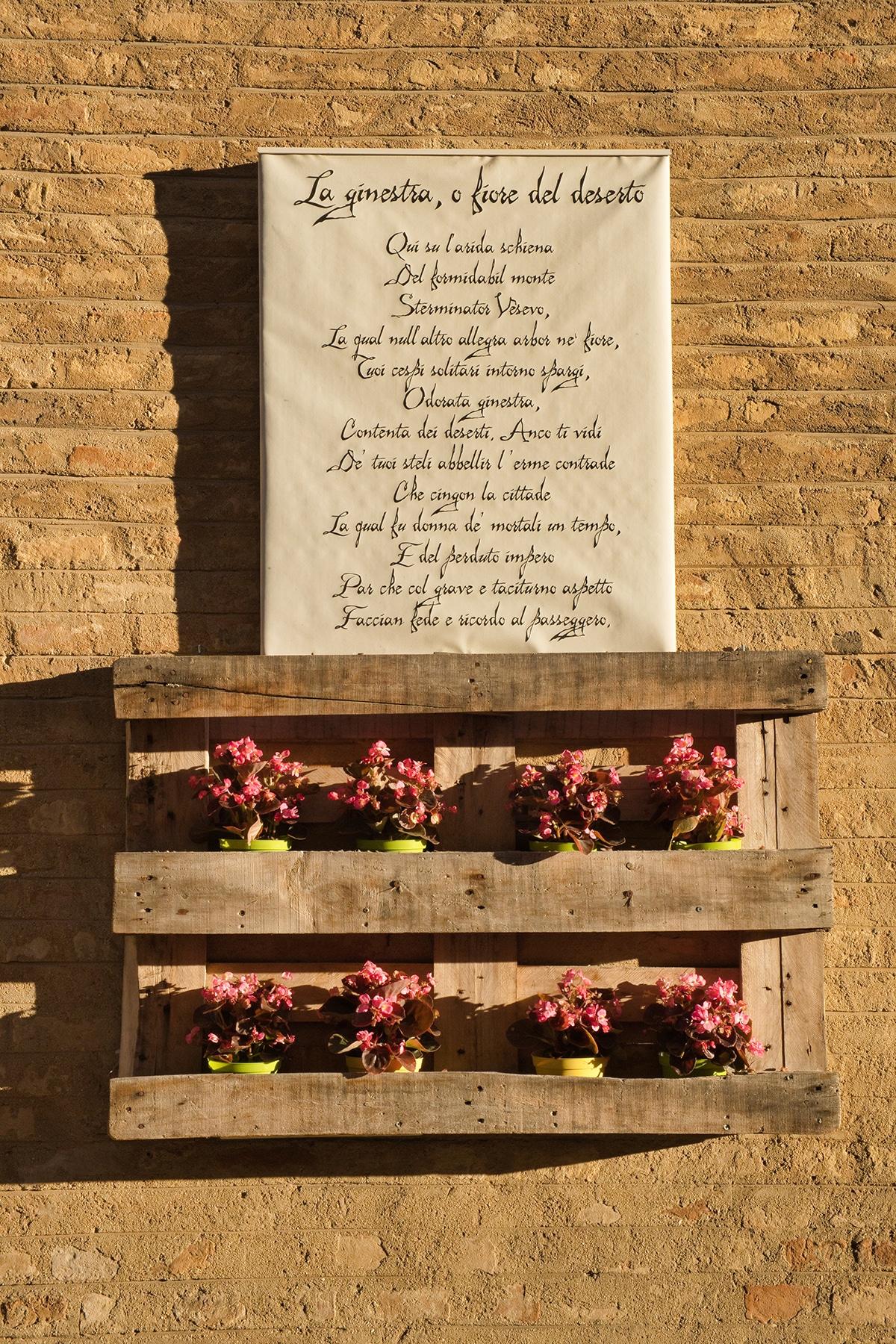 Poesie nel centro storico di Recanati