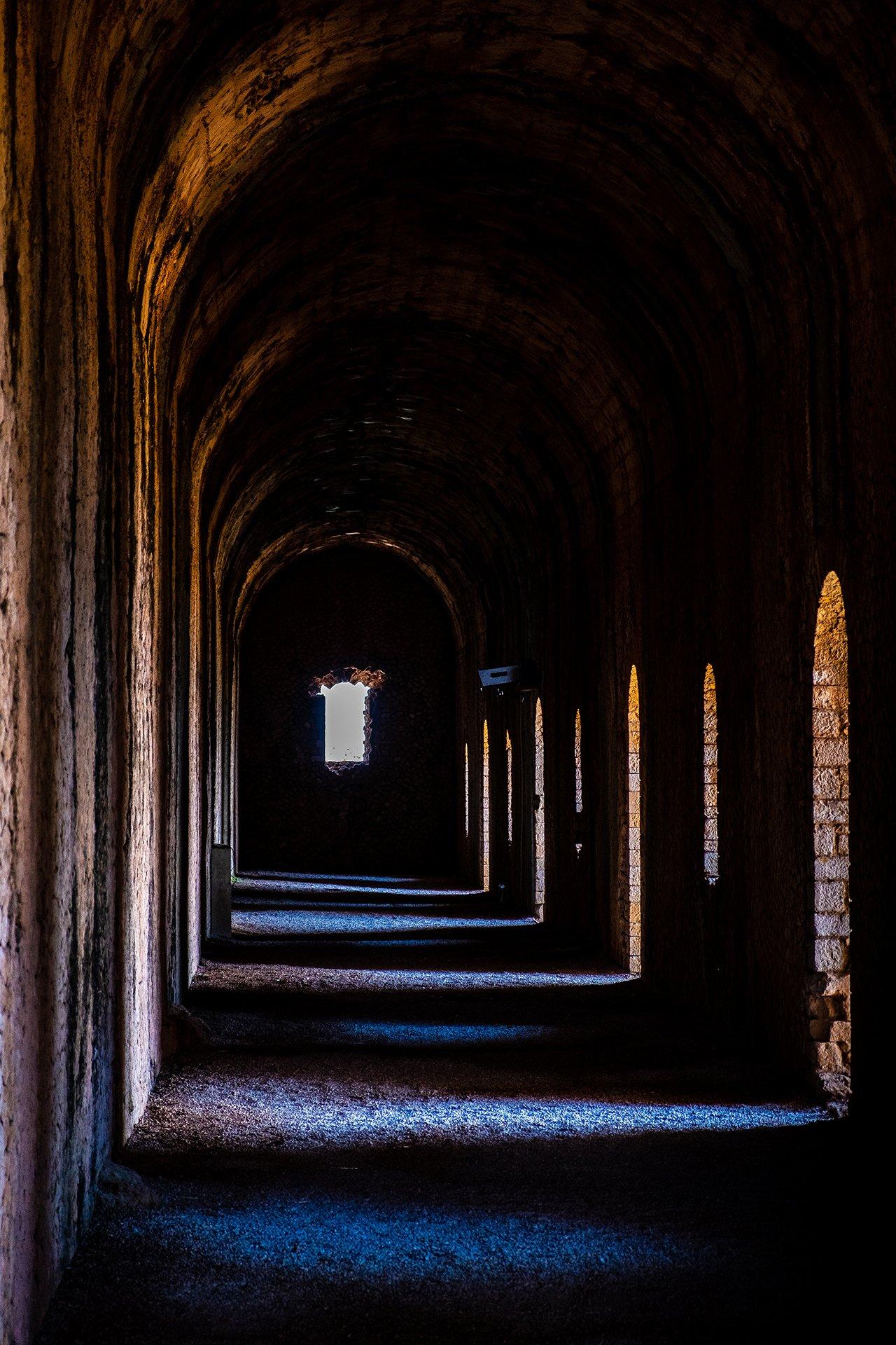 Corridoio Tempio di Giove a Terracina