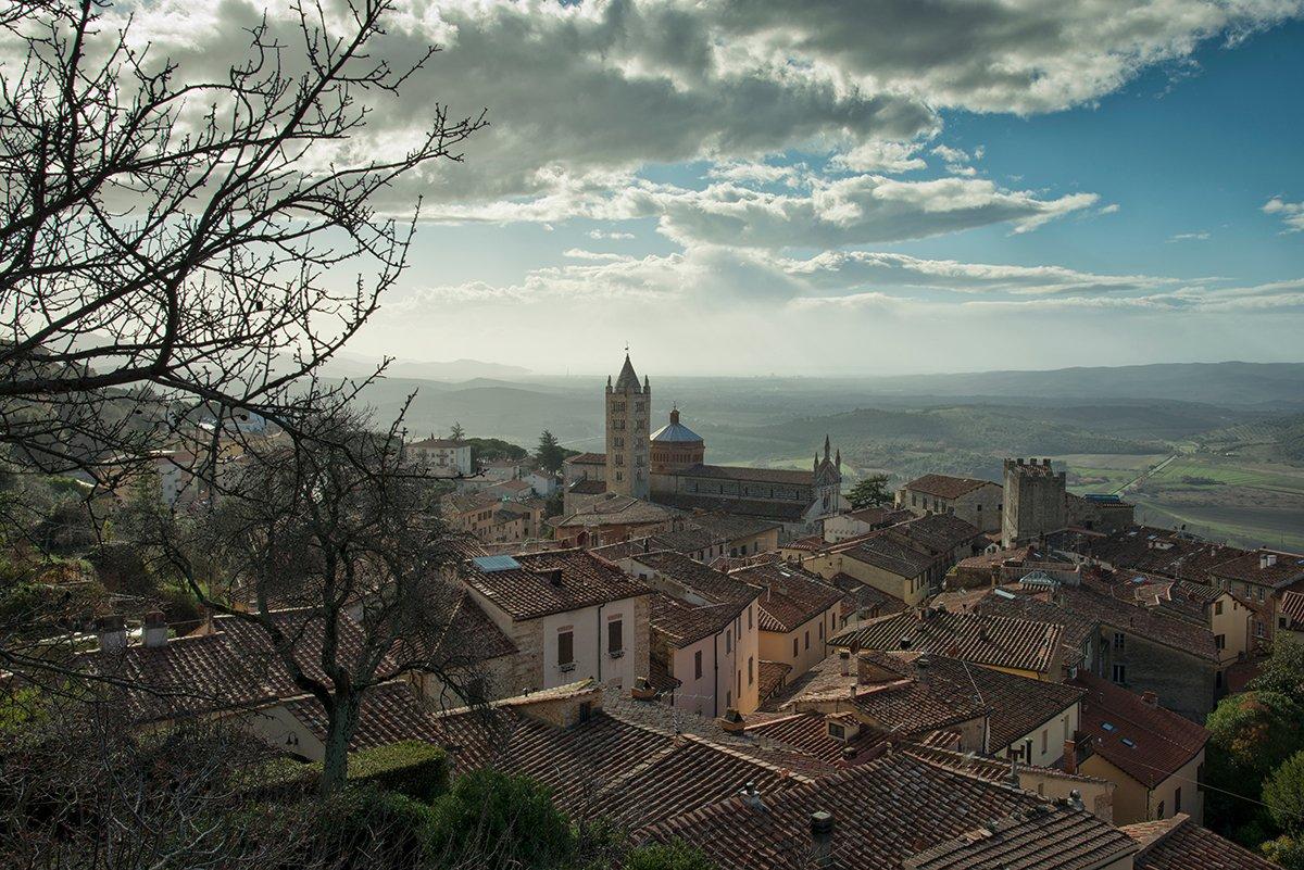 Panorama del borgo di Massa Marittima