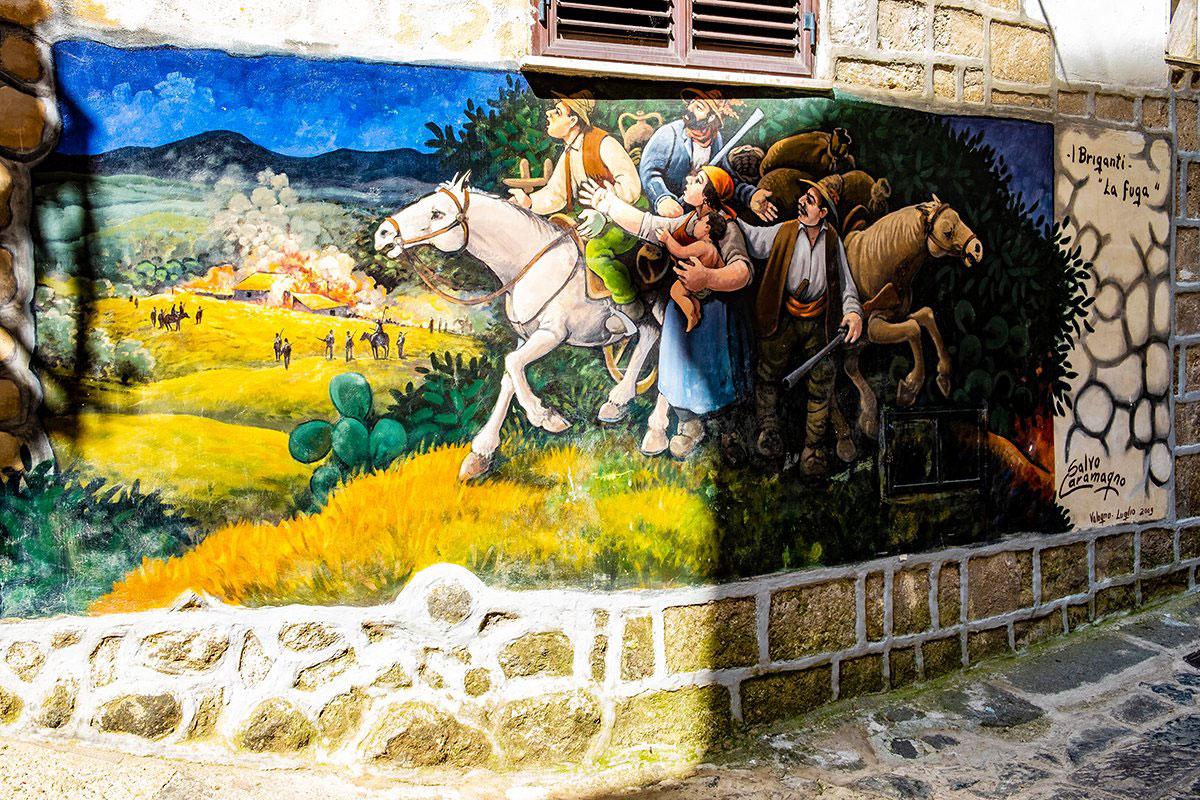 Il murales dei briganti