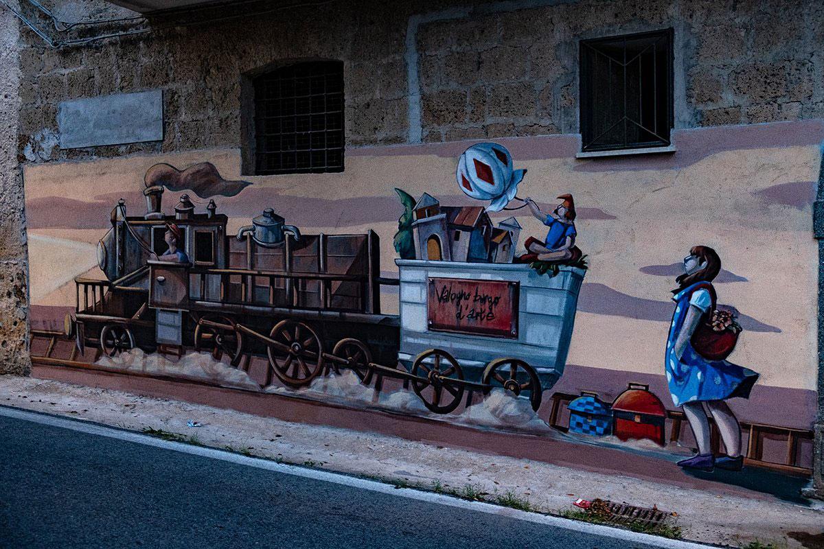 Il murales del treno